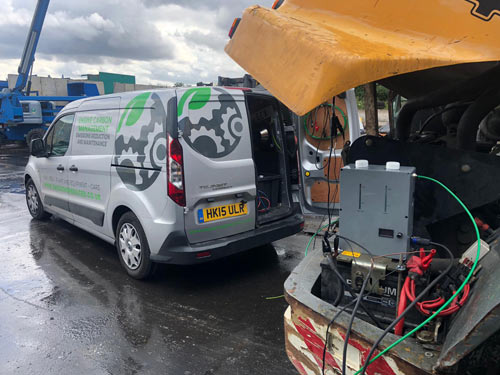 Engine Carbion Cleaning Van onsite